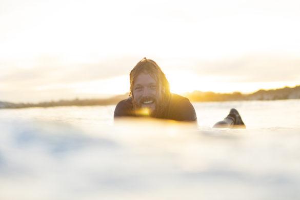 Tom Macfarlane enjoys an evening of wintry waves at St Kilda, Dunedin, New Zealand.