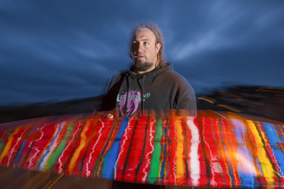 Homa's Mexican Blanket glass jobs are true works of art. Photo: Derek Morrison