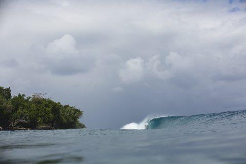 Inclement weather? Hardly noticed. Photo: Derek Morrison