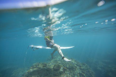 Coral heads never far below in Samoa. Photo: Derek Morrison