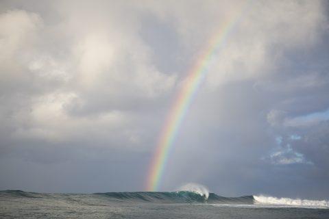 Rainbow at Salani Rights, Samoa. Photo: Derek Morrison