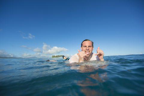 Stoking on Samoa.