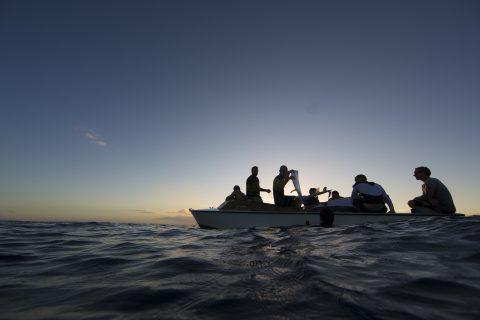 Boat access, Samoa.