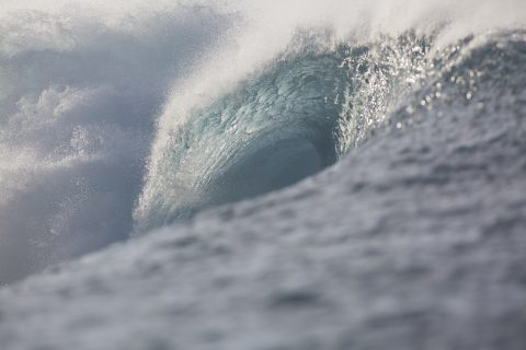 Salani Lefts were just a tad too quick on this swell direction and size. Photo: Derek Morrison