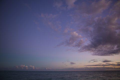 Beautiful sunsets from Upolu, Samoa.