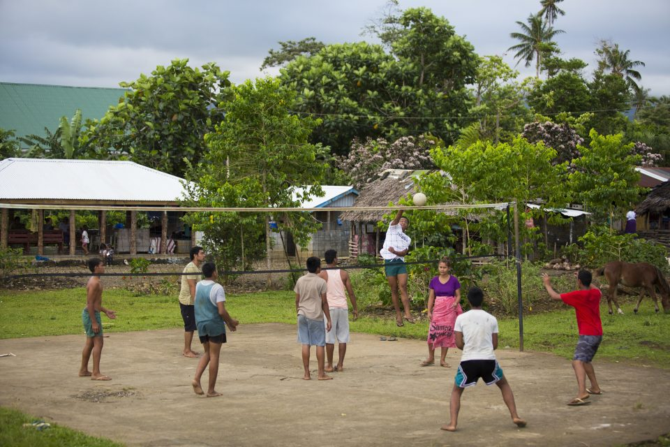 Volleyball is the game of choice in Samoa, get your spike on. Photo: Derek Morrison