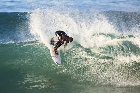 Seventhwave team rider Joe Palmer turning on the heat in Dunedin.
