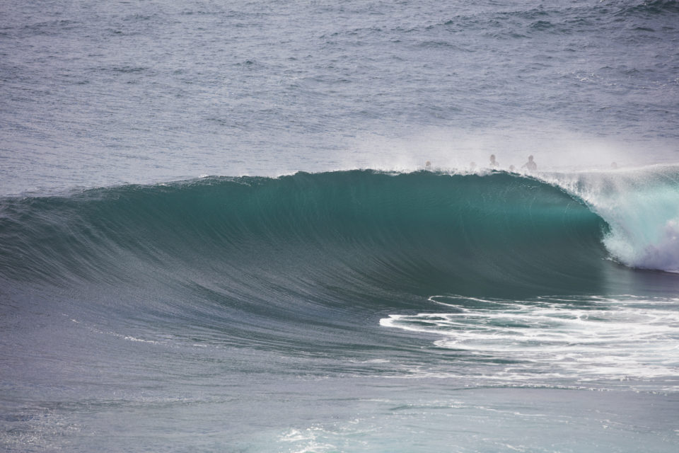 An empty wave at LA  on the Northern beaches of Sydney, NSW, Australia.