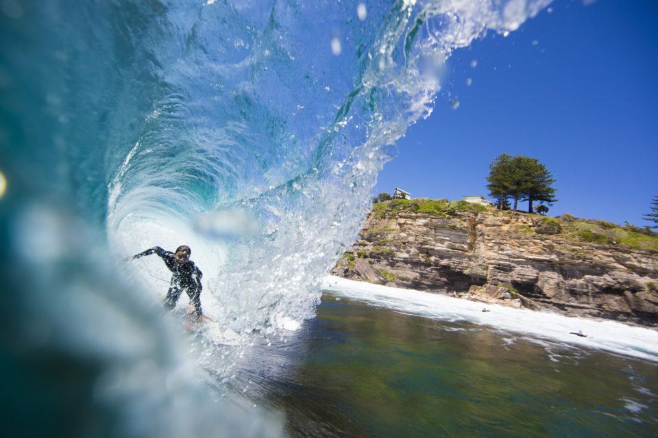 Ross Johnston rides deep  at LA, Sydney.