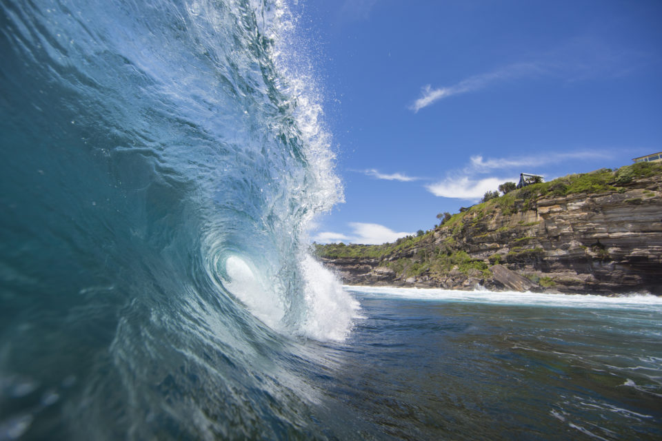Surfers make the most of fun conditions at LA  on the Northern beaches of Sydney, NSW, Australia.