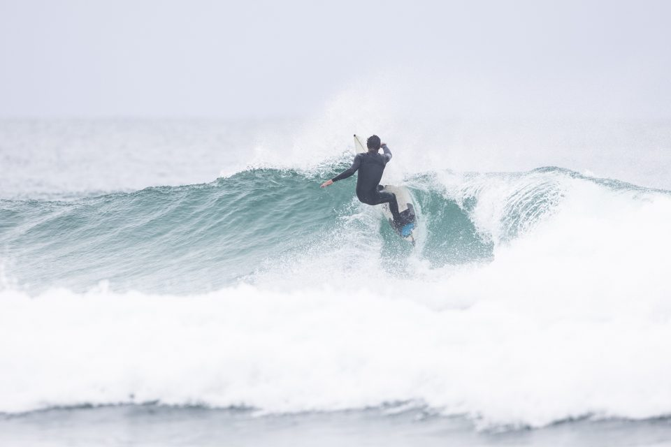Putting the fins through their paces in the lip. Photo: Derek Morrison