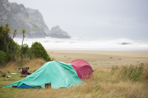 Camping in the rain: so rewarding. Photo: Derek Morrison