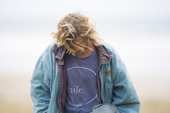 Ziggy Alberts enjoying the experience at a remote beach in the Catlins. Photo: Derek Morrison