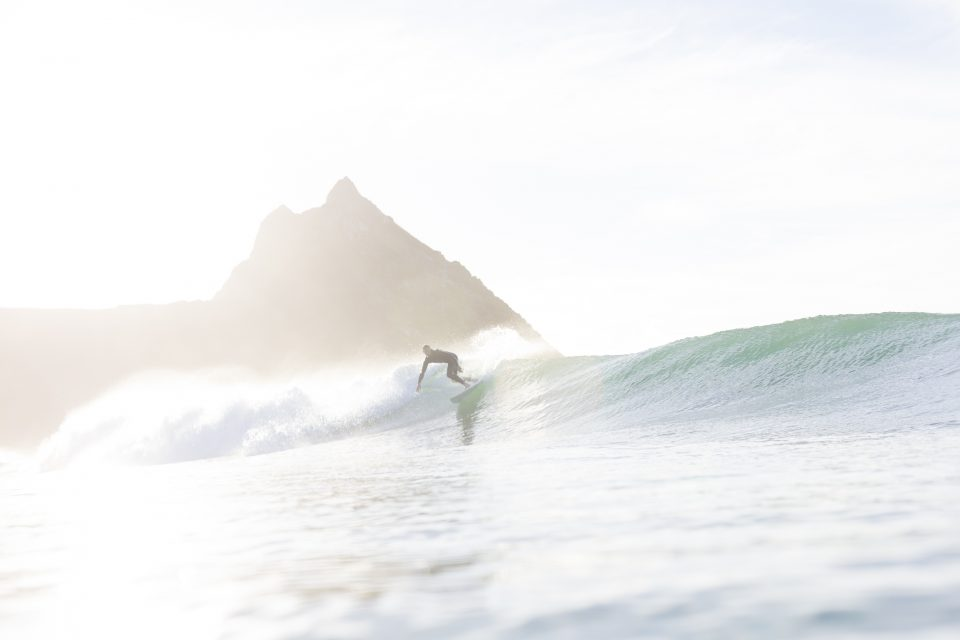 Ian Ross starting his day with a dawnie. Photo: Derek Morrison