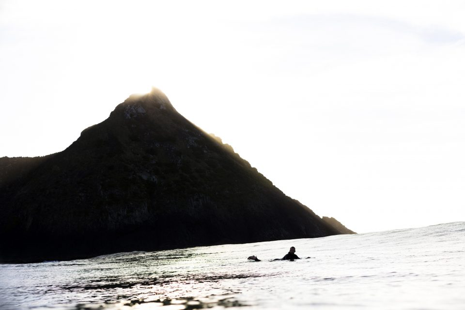 Ian Ross exploring New Zealand's coastline. Photo: Derek Morrison