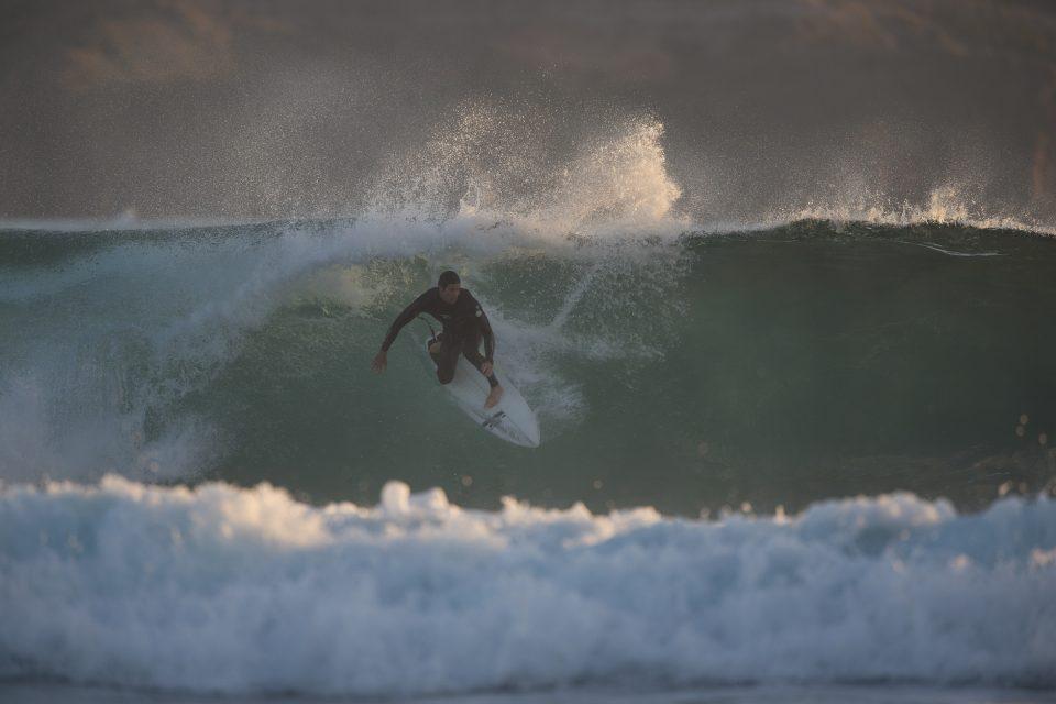 Bergs hacking at the reef. Norfolk Island, South Pacific Ocean. Photo: Derek Morrison