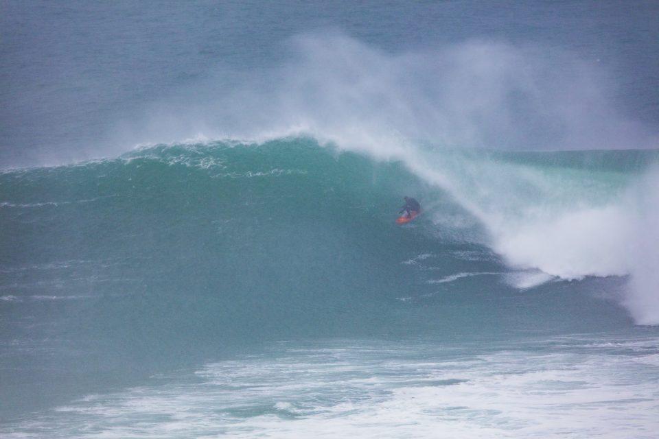 Doug Young hunting the barrel. Photo: Derek Morrison