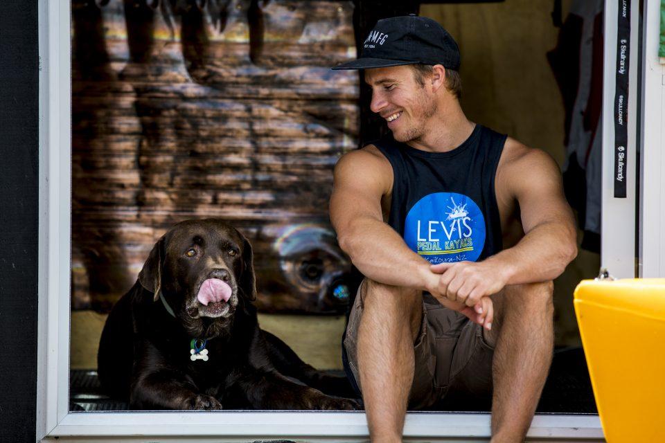 Levi with Koda. Photo: Derek Morrison
