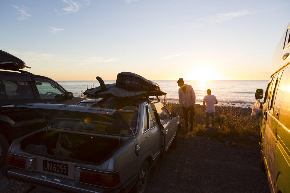 Sunrise session Kaikoura, New Zealand. Photo: Derek Morrison