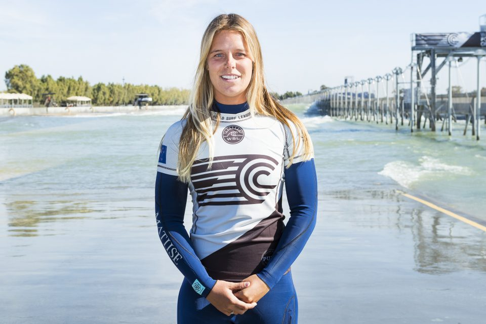 Paige Hareb (NZ), member of Team World at the 2018 Founders Cup at the WSL Surf Ranch, Lemoore, CA, USA. Photo: WSL/Cestari