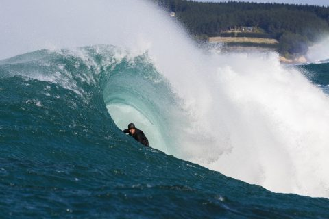 Tim Searing into the inside section. Photo: Derek Morrison