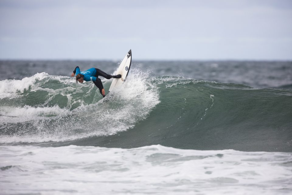 Shane Kraus during the 2019 Emerson's Brewery South Island Surfing Championships held at St Clair, Dunedin, New Zealand. Photo: Derek Morrison