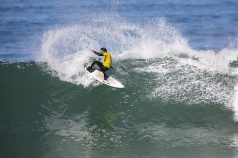Sam Dunfoy hadn't surfed much recently, but you couldn't tell. Photo: Derek Morrison