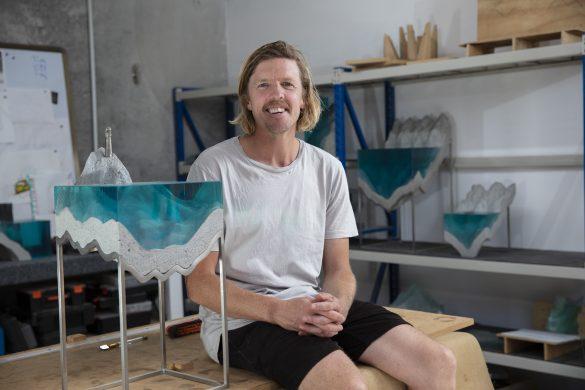 Artist Ben Young in his studio.