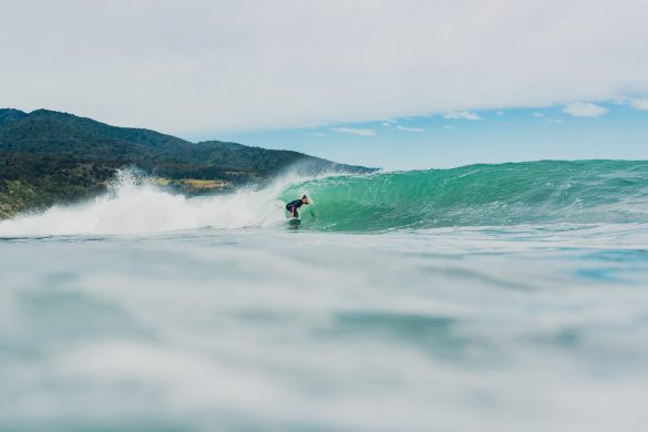 Ellie Brooks, of Australia, finding a little cover-up at Rags. Photo: RiBLANC