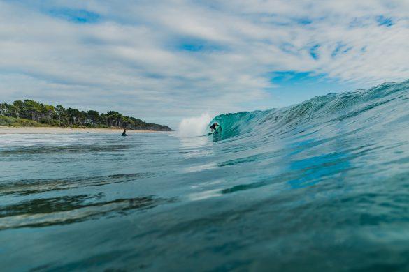 Paige Hareb making the most of the post-Piha Pro waves at Mount Maunganui. Photo: RiBLANC
