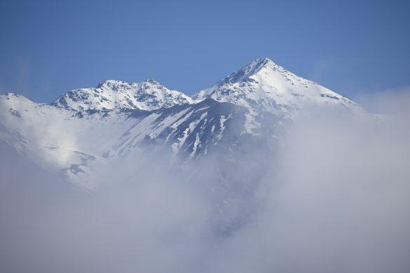 Peaks in the mist. Photo: Derek Morrison