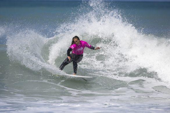Anna Brock on point in Kaikoura. Photo: Derek Morrison