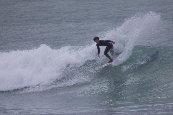 Trae Cooney during an early freesurf. Photo: Derek Morrison
