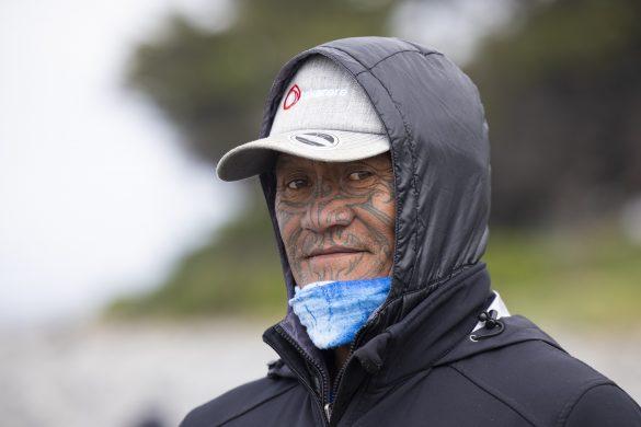 Charles Kauwhata supporting team Northland. Photo: Derek Morrison