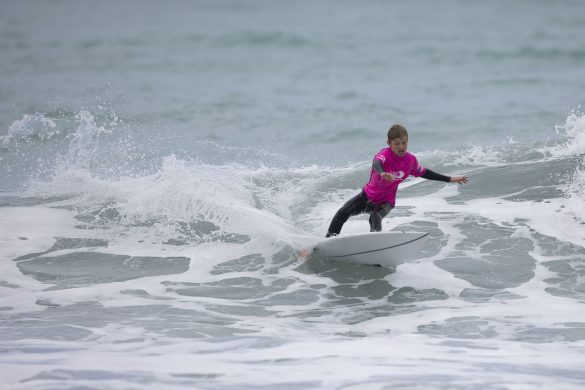 Jack Tyro is the form surfer in the Under 14s. Photo: Derek Morrison