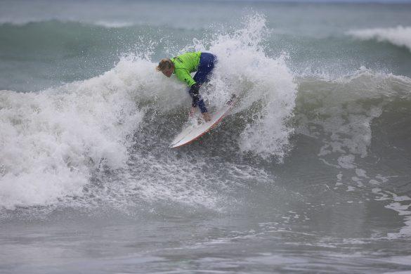 Spencer Rowson, of Taranaki, stepping up in the Under 14s. Photo: Derek Morrison
