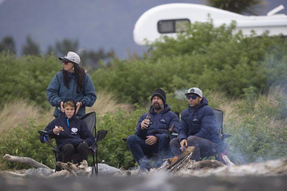 The Hardie camp. Photo: Derek Morrison