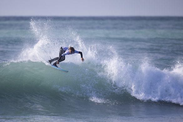 Tai Murphy pushing hard. Photo: Derek Morrison
