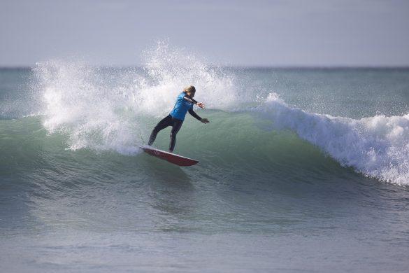 Tava Santorik cranking in the Under 16s. Photo: Derek Morrison