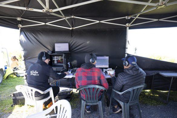 The Sky crew making great TV. Photo: Derek Morrison
