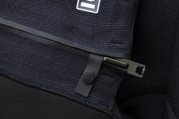 Simple chest zip.
