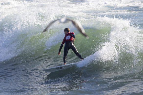Sonny Lyons swooping in. Photo: Derek Morrison