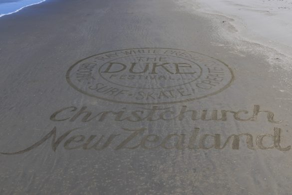Sand artist Jeremy Lillico's work. Photo: Derek Morrison
