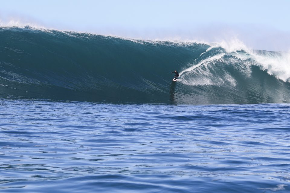 Davy on wave of the day. Photo: Dave Lyons